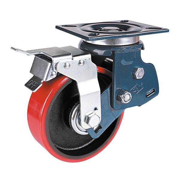 美式铁芯聚氨酯轮旋转后刹