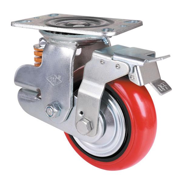 韩式铁芯聚氨酯轮旋转后刹