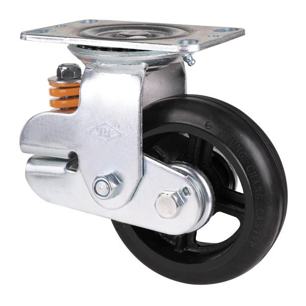 铁芯橡胶轮旋转