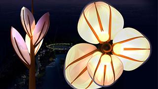 呼和特东河项目-丁香花创意景观灯