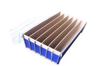 中空板+绒布+防尘盖+中空板周转箱