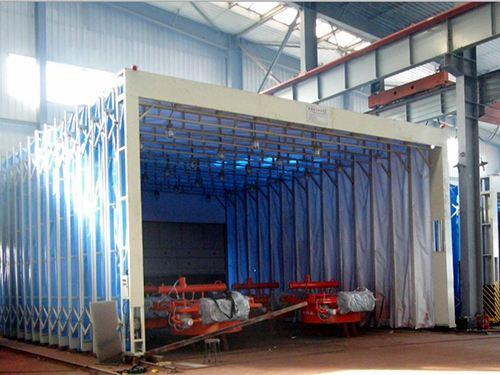 大型移动环保伸缩喷漆房