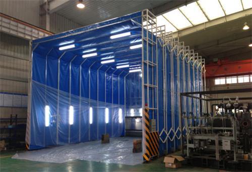 超宽型伸缩式喷漆房
