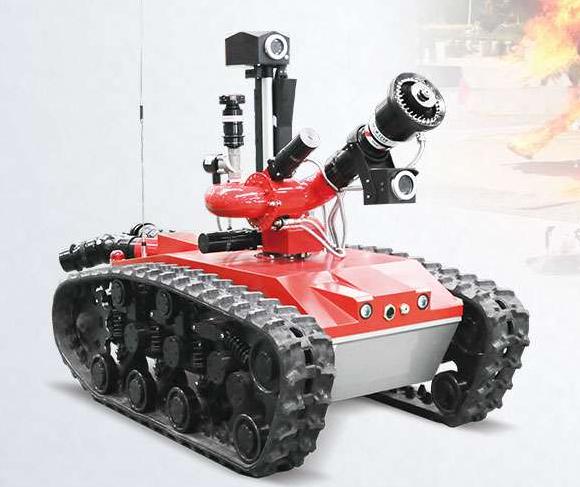 防爆履带式灭火机器人