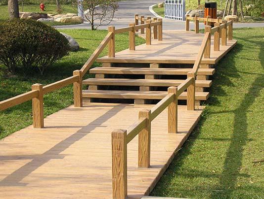 防腐木护栏