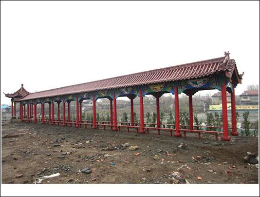 古建长廊施工