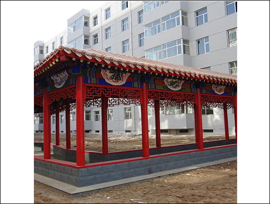 淄博长廊施工