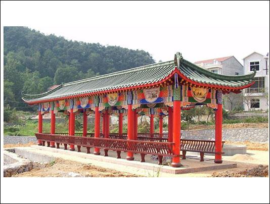 苏式古建长廊