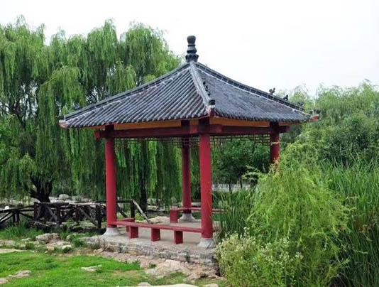 聊城公园四角亭
