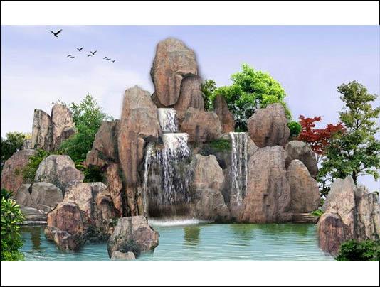 寿光塑石假山