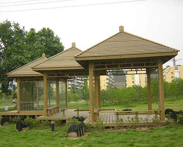 生态园防腐木凉亭