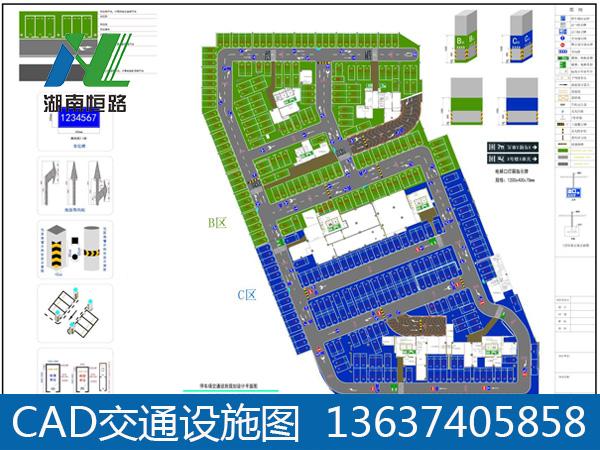 车库CAD图制作|停车场规划设计