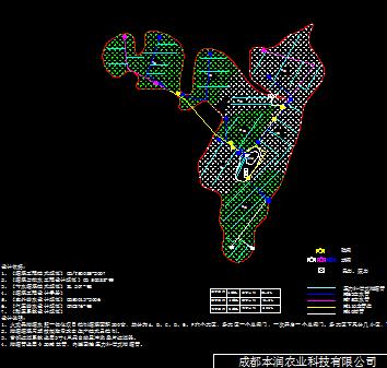 云南260亩火龙果管网图