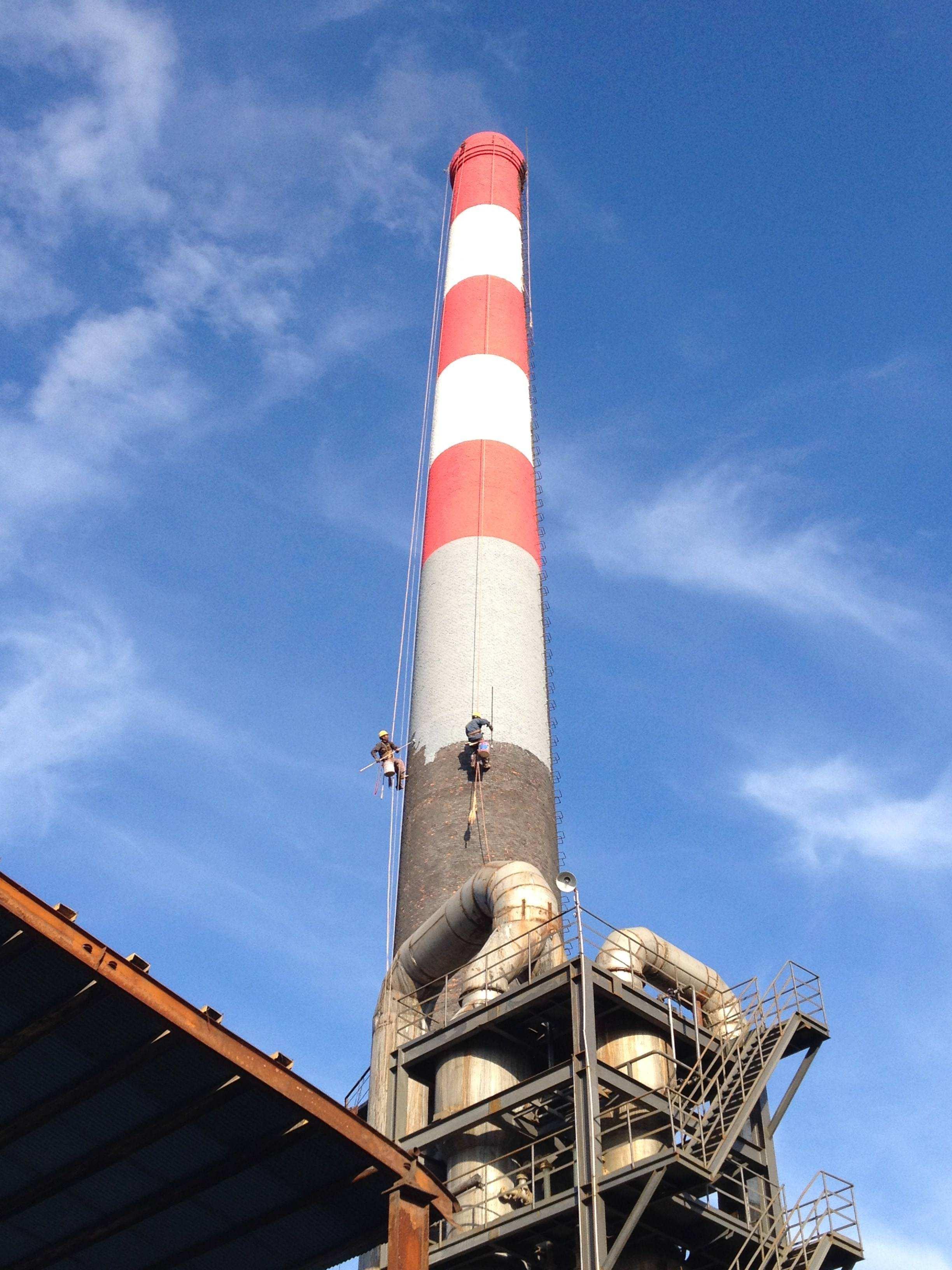 电厂烟囱外壁防腐