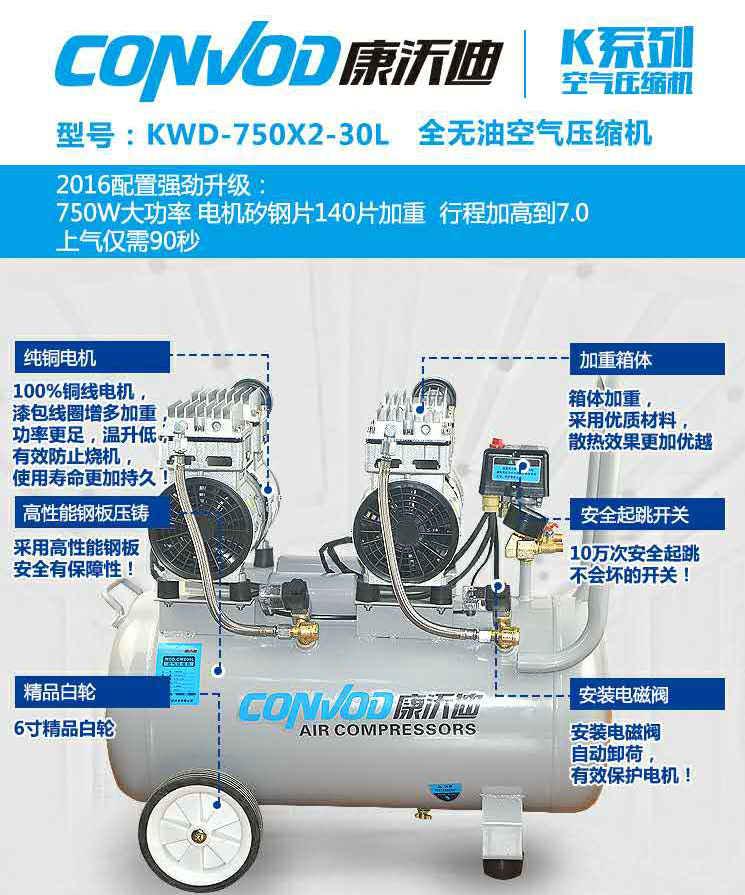 KWD-750X2-30L全无油空气压缩机