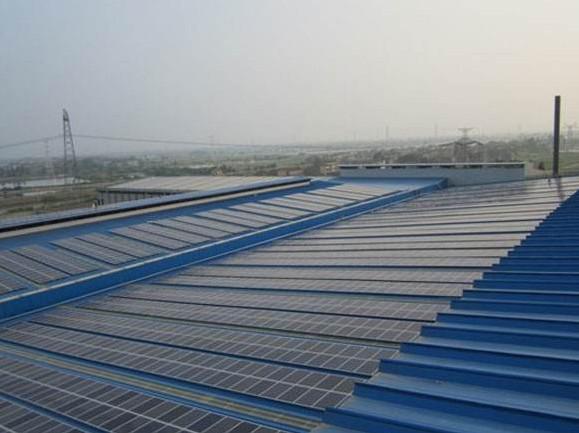 彩钢结构屋顶施工