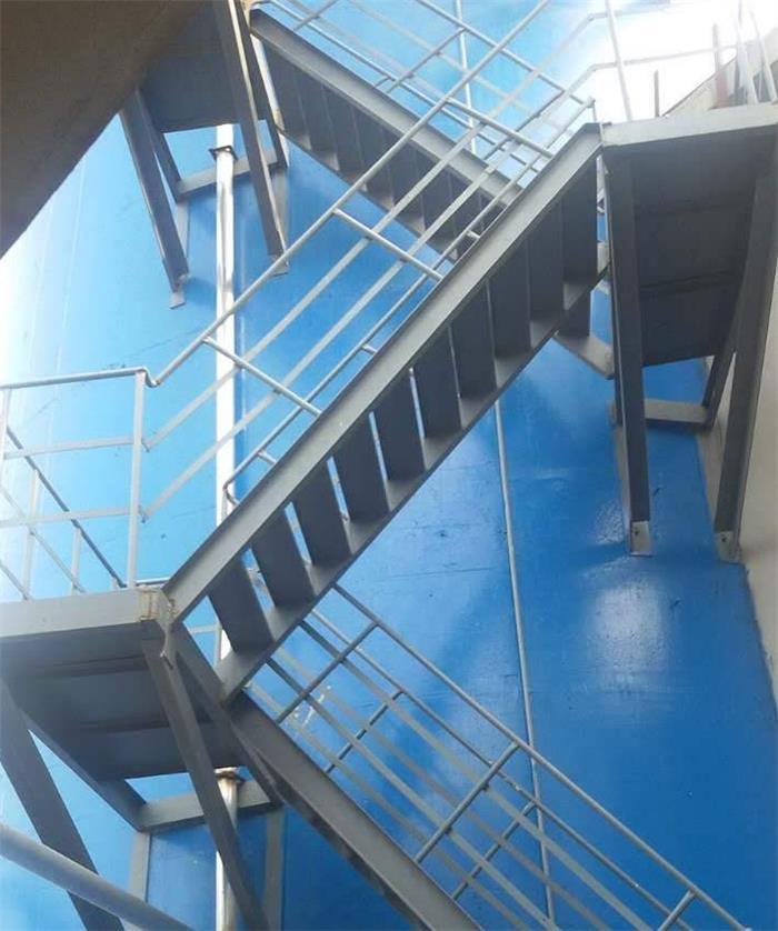 烟囱爬梯烟气检测平台安装