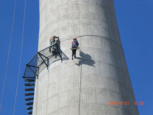 水泥烟囱安装平台
