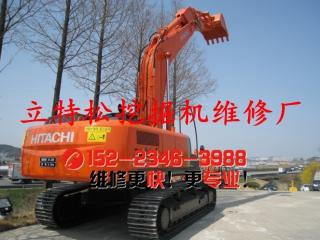 日立ZX350LC-3挖掘机全机动作缓慢故障排除
