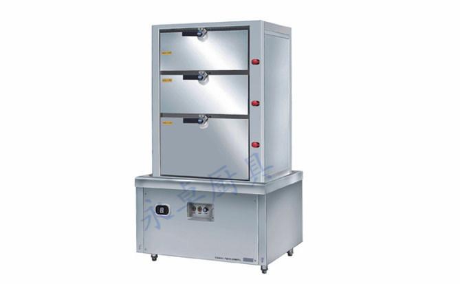 电磁三门海鲜蒸柜