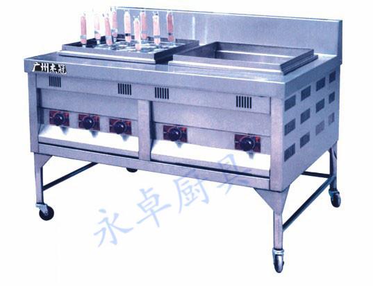 喷流式煮面机带汤盆(燃气)