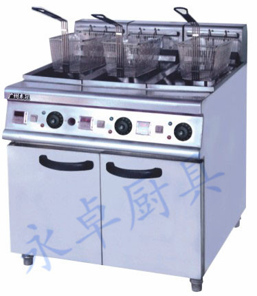 立式三缸三筛电炸炉 DF-26-3