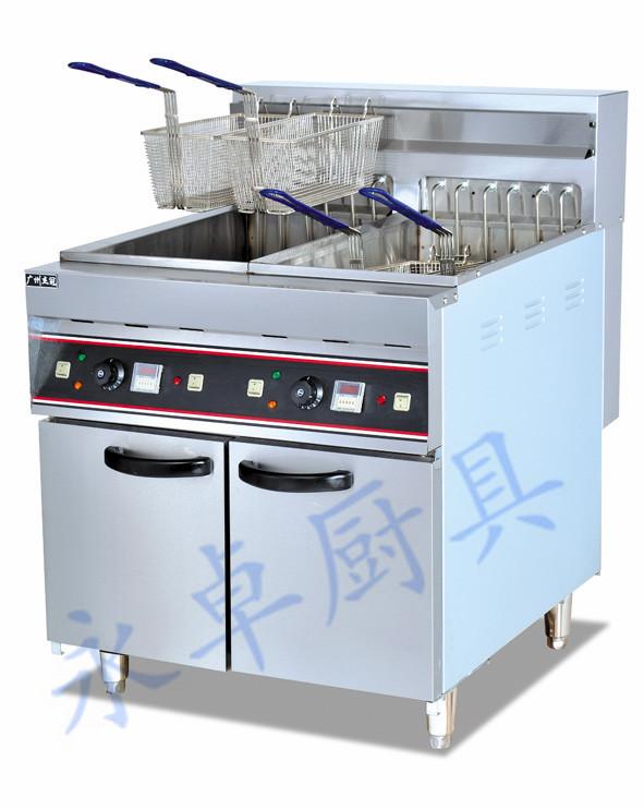 立式双缸四筛电炸炉 DF-26-2