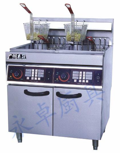 立式双缸四筛电炸炉 DF-26-2A