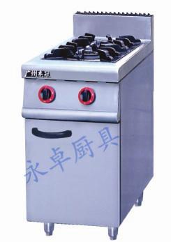 立式燃气二头煲仔炉连柜座 GH-977