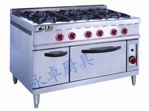 立式燃气六头煲仔炉连焗炉 GH-997A/797A(700)