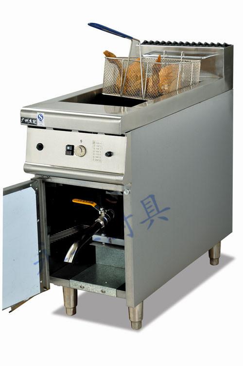 立式燃气/电炸炉连柜座