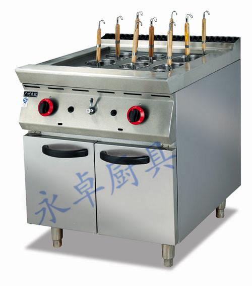 立式燃气煮面炉连柜座
