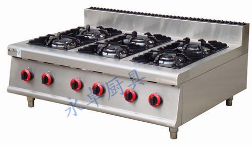 台式燃气六头煲仔炉