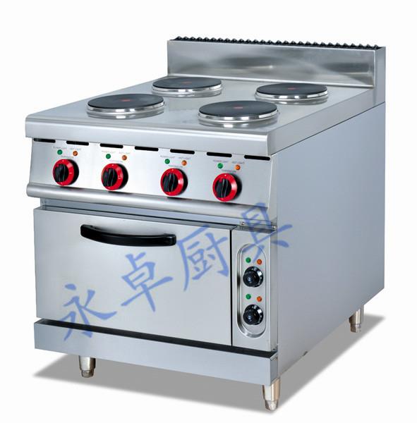立式电四头煮食炉连焗炉