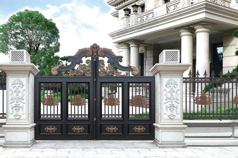 现代庭院门
