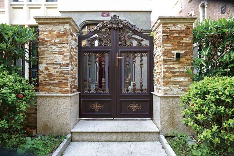 现代庭院小门