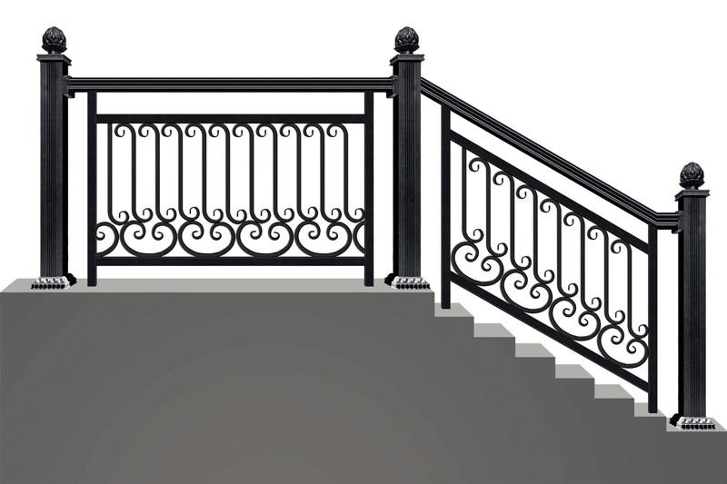 别墅锻打楼梯厂家