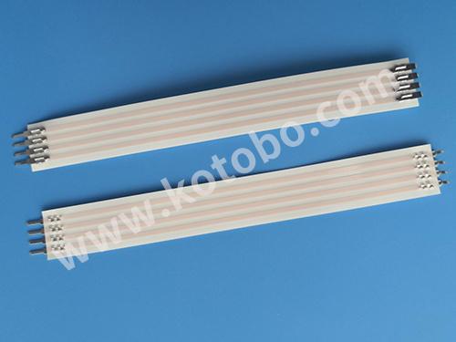2.54间距两端焊接一端折90C