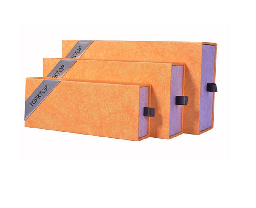 Custom Luxury Scarf Rigid Paper Packaging Drawer Box