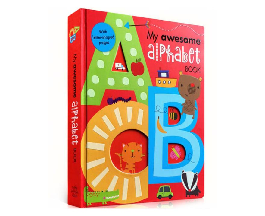Recycled Paper Story Book Children English Alphabet Education Board Book Printing