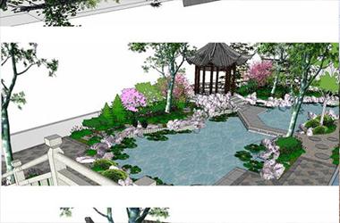 中式别墅庭院