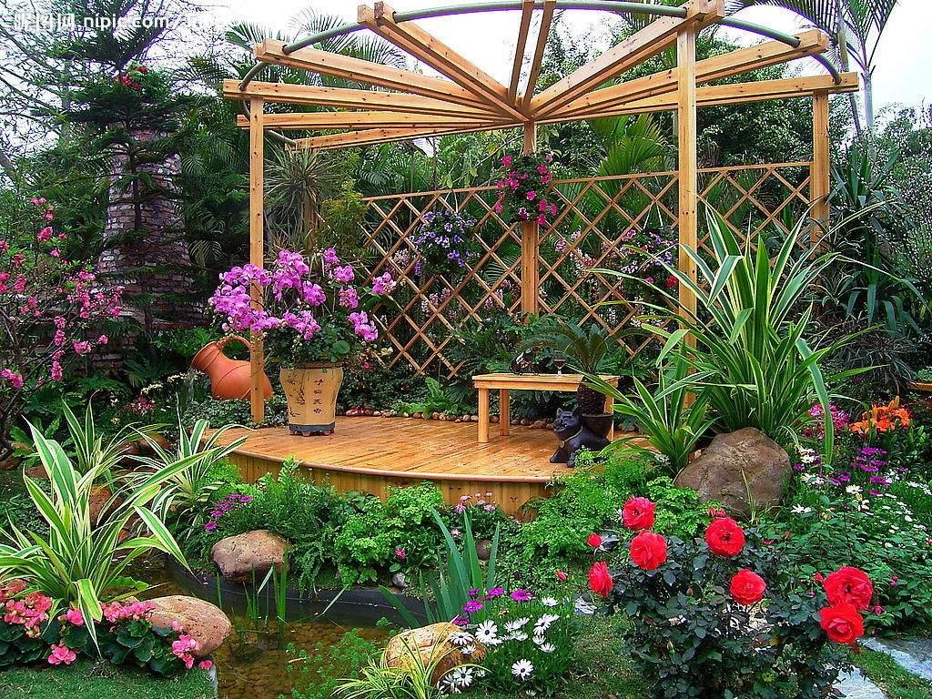 别墅庭院花架