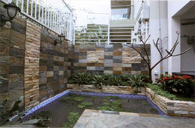 别墅庭院花池