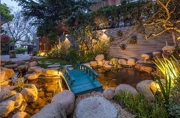 别墅庭院水景