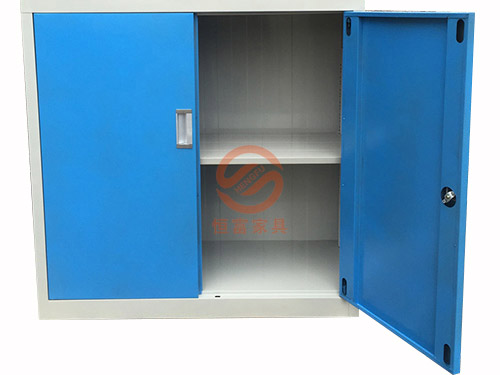 蓝色掩门文件地柜
