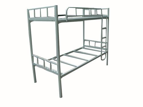 加厚圆管灰白色双层床