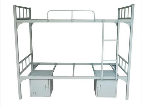 灰白螺丝加固床  储物柜