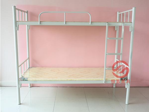 灰白双层直管铁床 50管