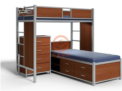 公寓床(上下床柜子组合)