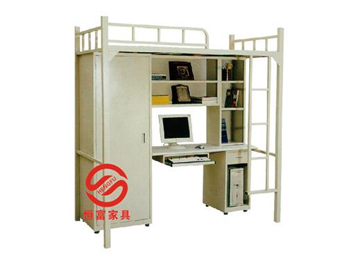 公寓床配铁衣柜办公书台